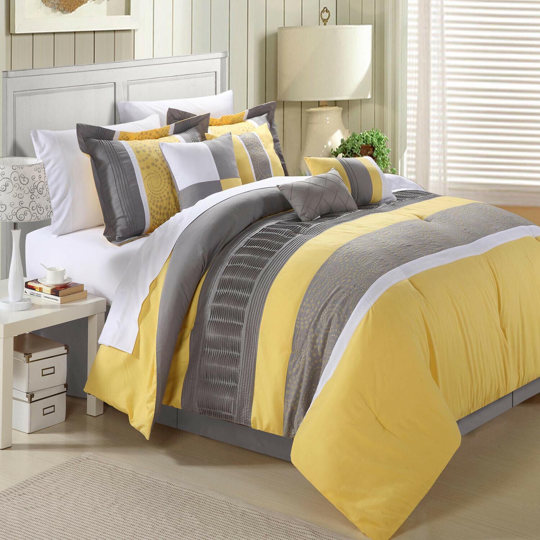 Euphoria Gelb Comforter Bed In A Bag Set 12 piece