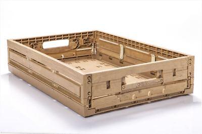 100 St Apfelkisten Obstkisten Gemüsekisten Im Holzdesign 600x400x115mm Gastlando Ein Kunststoffkoffer Ist FüR Die Sichere Lagerung Kompartimentiert