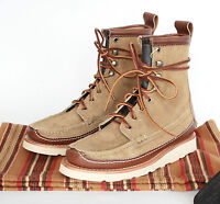 Yuketen Maine $719 Guide Db Shoes Khaki Suede Leather Welted Sole Boots 6-us
