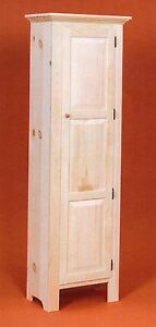 Amish Unfinished Solid Pine Tall Pantry Jelly Storage