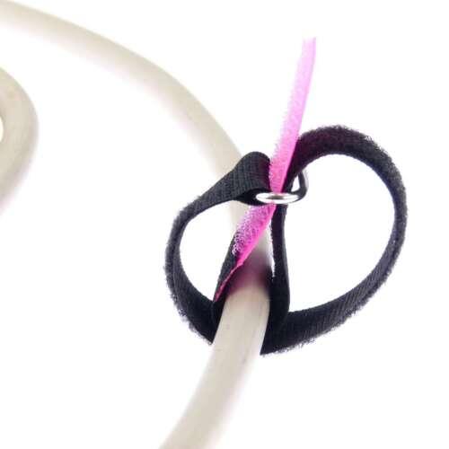 50 x Klett Kabelbinder 200 x 20 mm neonpink Kabelklettband Kabelklett Klettband