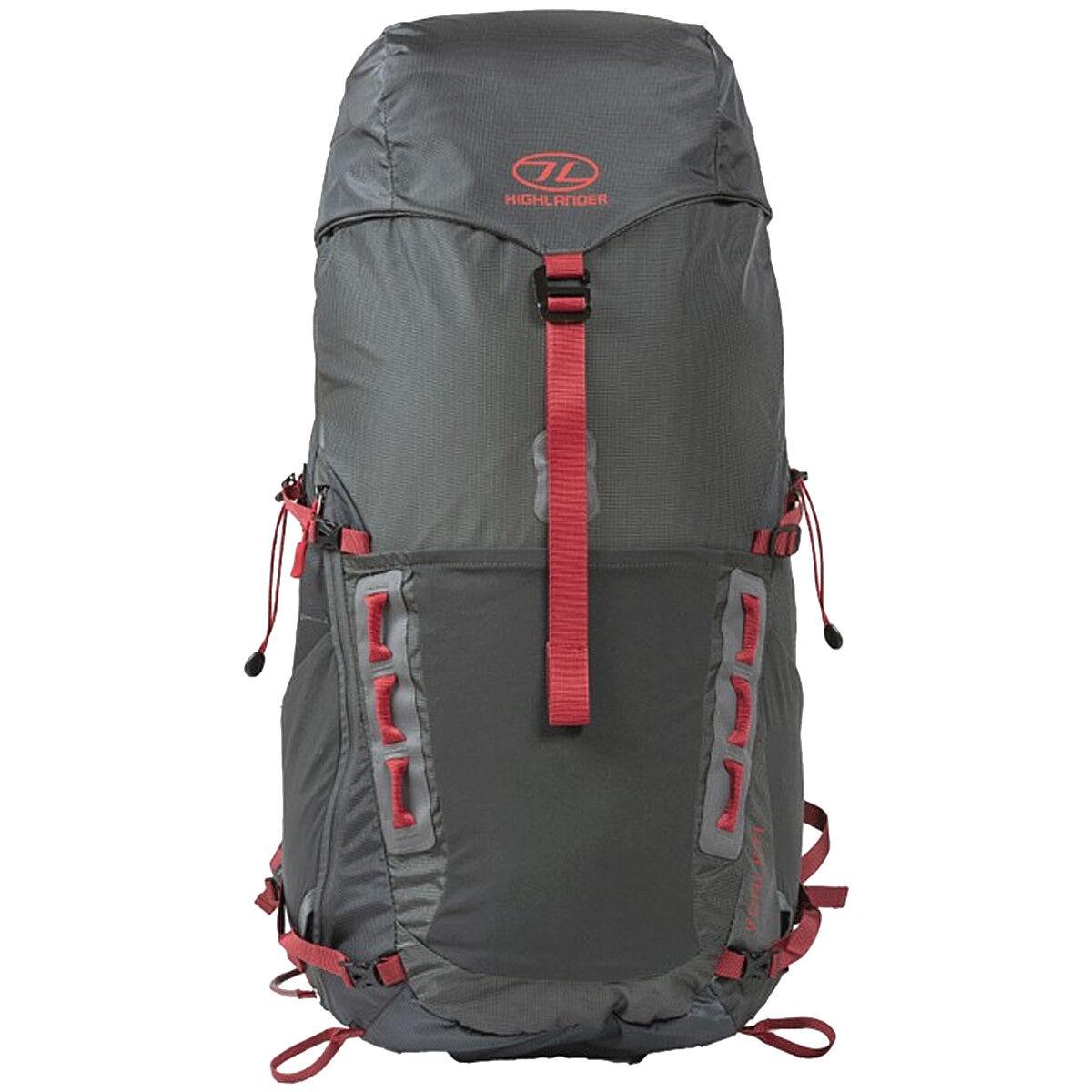 Highlander Vorlich 40 Zaino Outdoor Trekking Viaggio Viaggio Viaggio Festival Campeggio Charcoal 15dfe9
