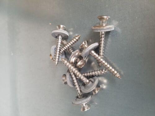 Dichtscheibe 15mm,Torx 25 Edelstahl A2 blank 200 Spenglerschrauben 4,5x60