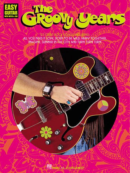 The Groovy Years Easy Guitar Tab Sheet Music Chords 23 Pop Rock ...
