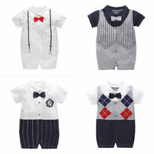 1pc Baby clothes infant boys bodysuit summer newborn  Tuxedo jumpsuit gentleman