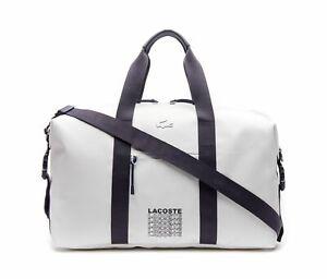 LACOSTE-L-12-12-Concept-Fantaisie-Weekender-Reisetasche-Tasche-White-Peacoat