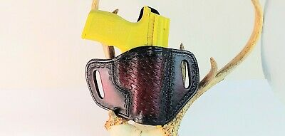 Holster For Sig P365XL Holster And Mag Pouch Set Black Basket Weave RH.