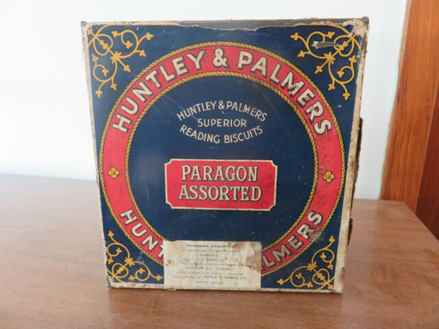 "Vintage Superior Reading Assorted Huntley /& Palmers Biscuits Small Tin 1 3//4"" H."
