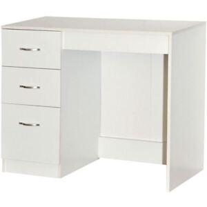 Riano 3 Drawer Dressing Table White Bedroom Vanity Makeup Desk ...
