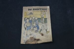 Age Print Der Kinderfreund Newspaper No. 17 From 1931 Book Old Vintage Collector