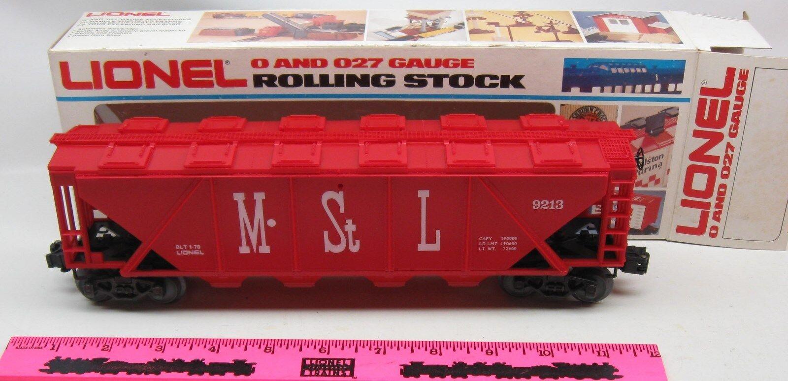 Lionel 6-9213 M&StL covered Quad hopper