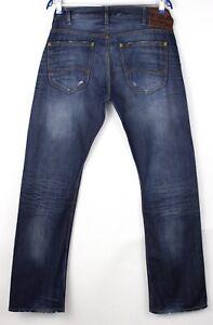 Lee-Hommes-Flint-Jeans-Jambe-Droite-Taille-W33-L34-AHZ85