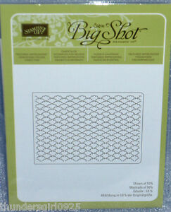 Stampin Up Textured Impressions Fancy Fan Embossing Folder Sizzix Retired