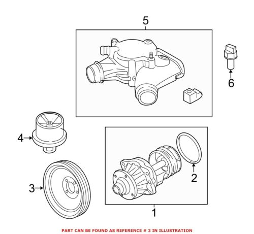 For BMW Genuine Engine Water Pump Pulley 11517838676
