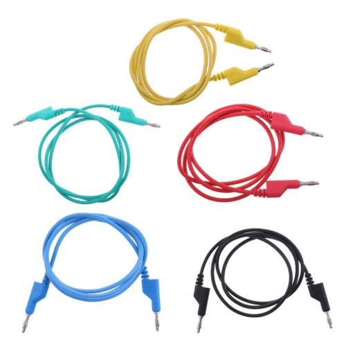 5x 1 Mt 4mm Banana zu Bananenstecker Weiche Silikon Test Kabel für