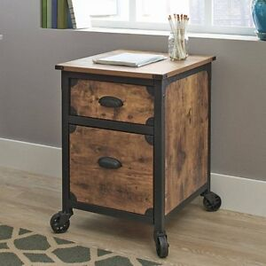 Image Is Loading Rustic Wood File Cabinet Home Office Weathered Pine