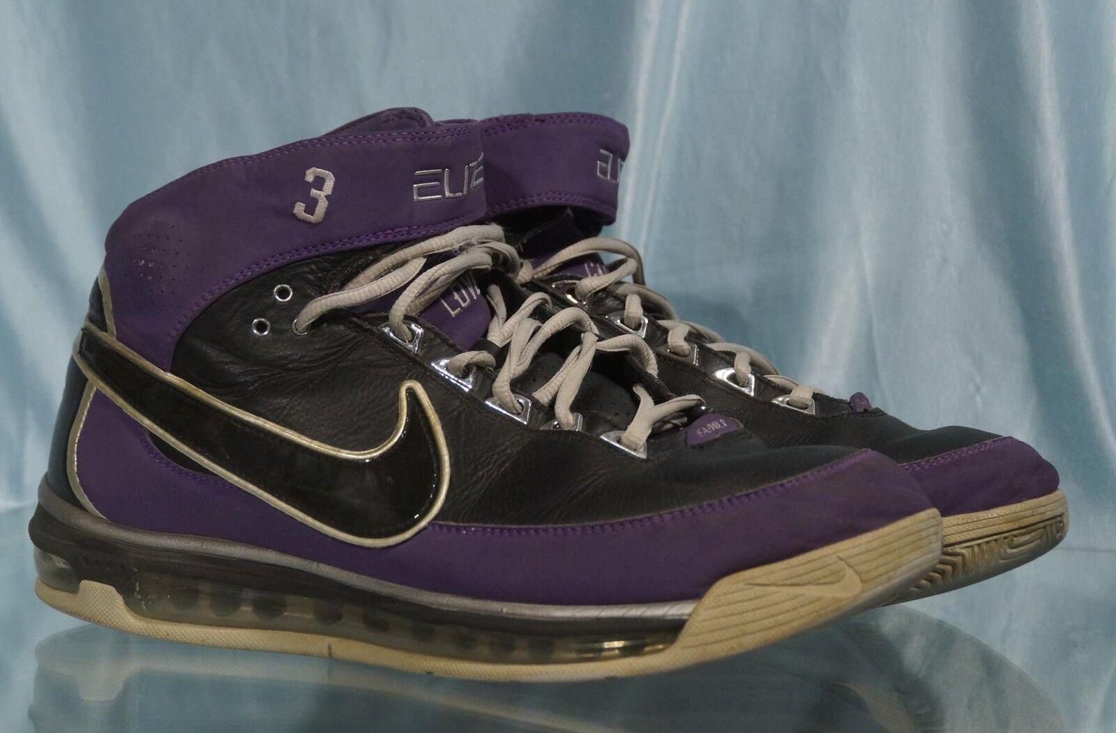 Nice Purple & Black NIKE ELITE 3 FORCE  Basketball Low Top Shoes Sz 10.5