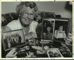 1989 Press Photo Hermine Hanna, National Grandparents Day Founder at Apartment