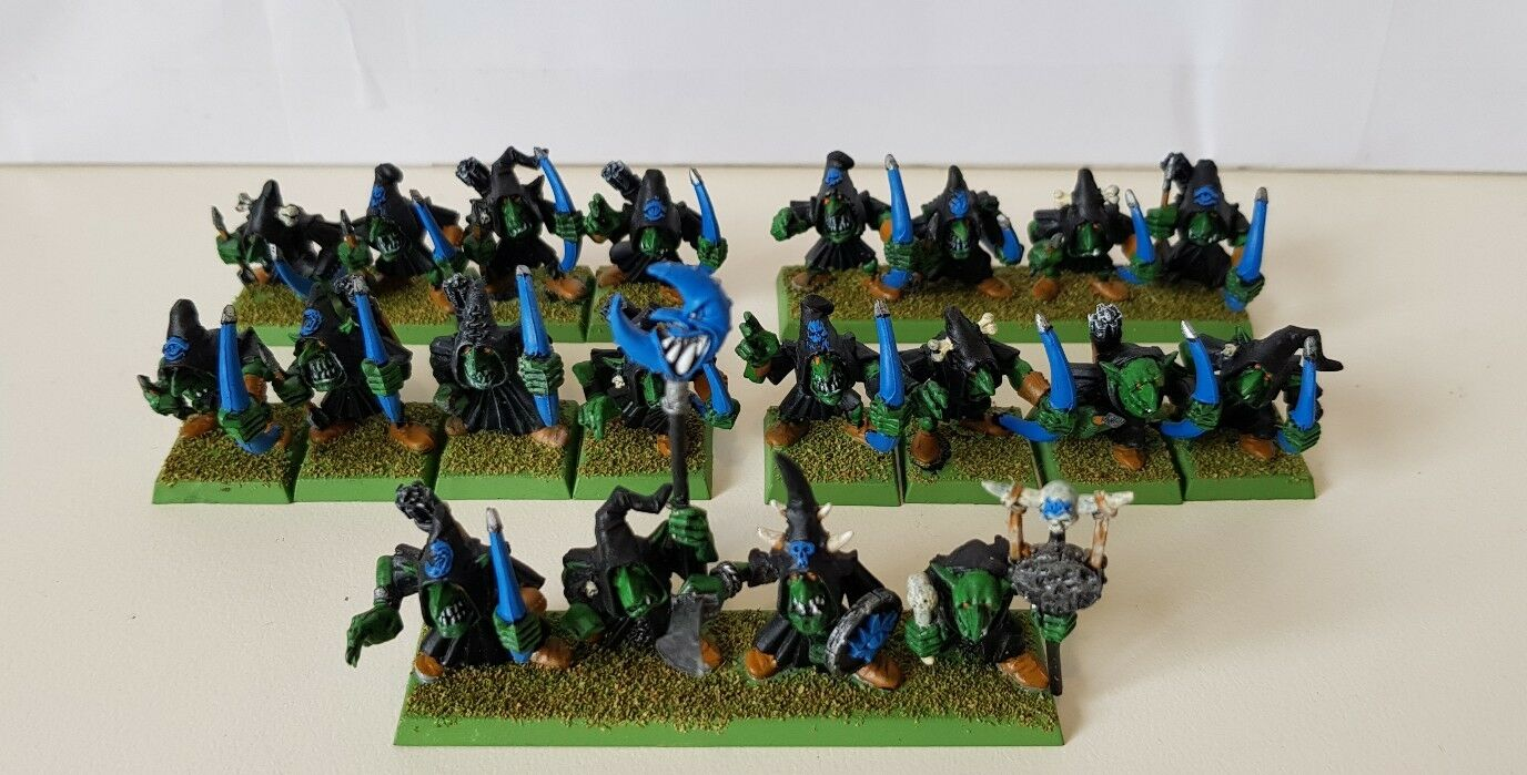 20 x Goblin Greds with Bows well painted models includes part metal command (B)