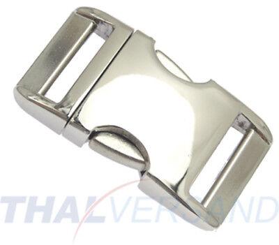 Metall Steckschnalle Steckschließer 50mm Aluminium Alu 4002 Alu-Max f Gurtband