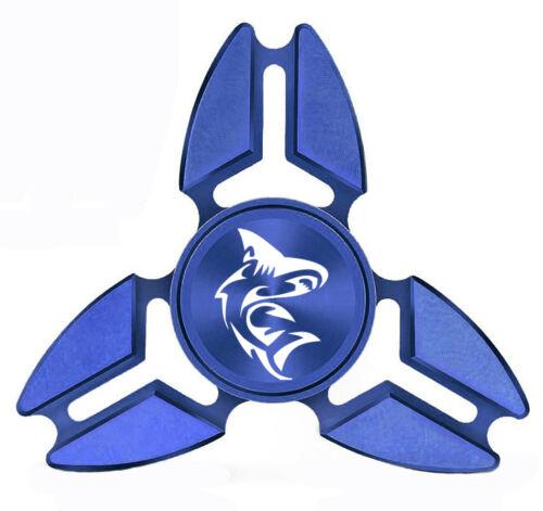 Fidget Spinner Tri-Spinner Aluminum Metal Shark