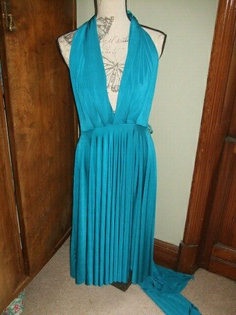 new no tags turquoise blue multiway butterfly two birds dress bridesmaid B