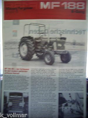 Business & Industrial Clever Trek/trattore Originale Brochure Massey Ferguson Mf 188 8-gang Excellent Quality