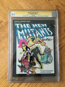 Marvel Graphic Novel #4 Signed Claremont & McLeod 1st New Mutants 8.5 VF+ CGC