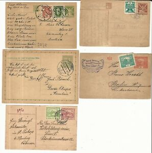 Czechoslovakia-Lot-of-different-postal-stationery-of-classic-stamps-CZ13