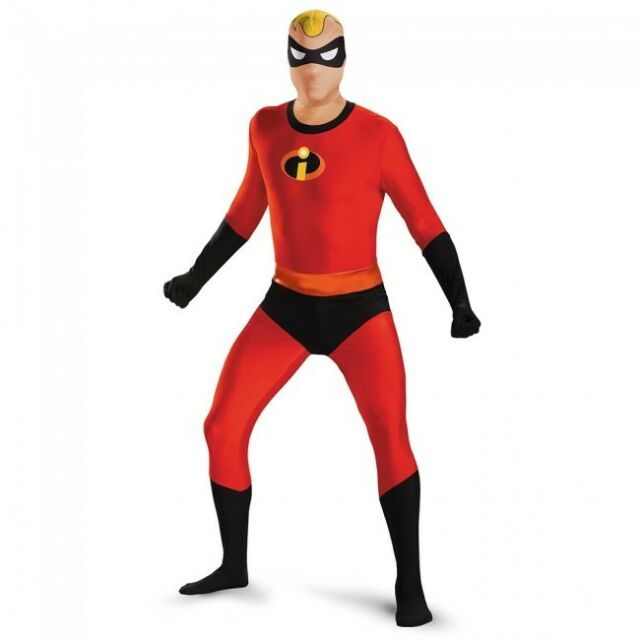 Disguise Mr. Incredible Bodysuit Skinovation Adult Mens Halloween Costume 86237