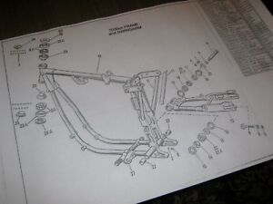 harley davidson sportster xl 1000cc frame parts drawing. Black Bedroom Furniture Sets. Home Design Ideas