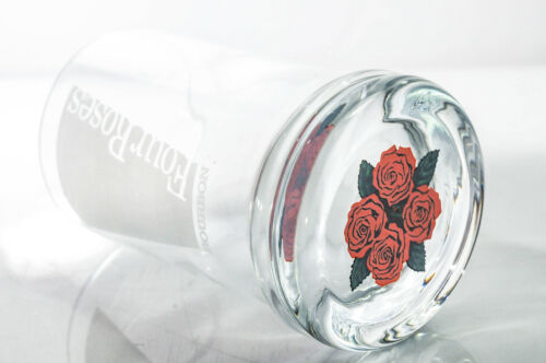 Rose im Fuß Glas // Gläser Four Roses Whisky Löngdrink Glas satiniert