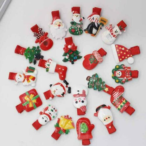 Children/'s Christmas Clip Hairpin Barrettes Set Five-piece New Hair Accesso N7C5