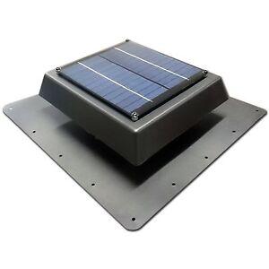 Acol Black Ezylite Solar Roof Vent Fan For Skylights