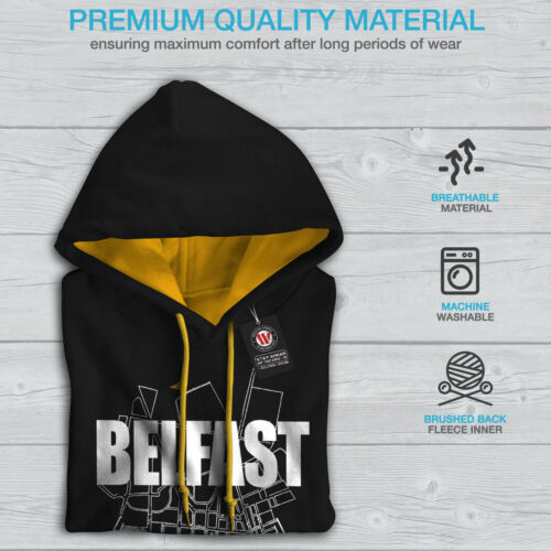 de Belfast Sweatshirt ville Hood gold Mode Contrast Black Hommes New la Carte 44qSn5a