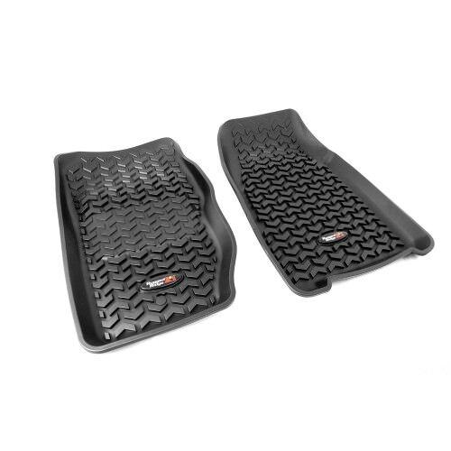 RUGGED RIDGE 12920.25 Floor Liners Front Black For 84-01 Wrangler Cherokee XJ