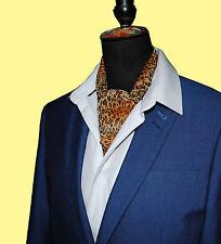 Leopard Print Georgette/Chiffon Cravat Neck Tie Head Scarf Band Belt Sash Bow