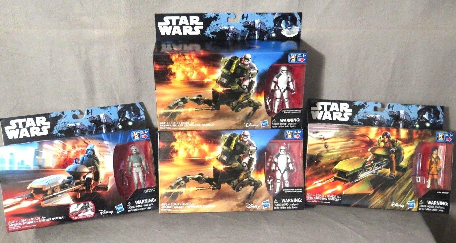Star wars (2) rebellen + raser & (2) sturmtruppen + walkers neues