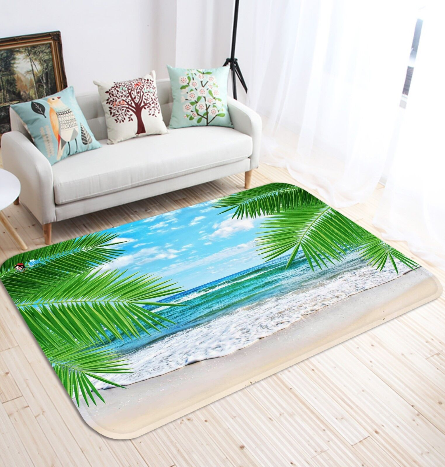 3D Sky Surf Beach 683 Non Slip Rug Mat Room Mat Quality Elegant Photo Carpet US