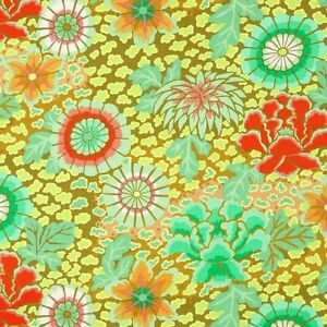 Kaffe-Fassett-Dream-Floral-Cotton-Fabric-PWGP148-Moss-Fall-2014-Collection-BTY
