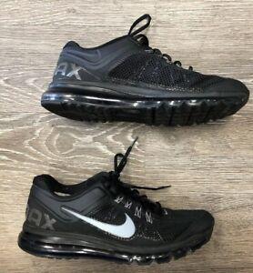 Nike Air Max 2013 Mens Running Athletic Black Shoes 554886