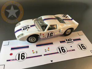 STICKERS POUR FORD GT40 #16 LM67 JOUEF 1/40 (NO DECAL IDEAL SLOT) DCS005