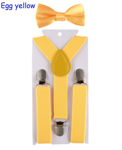 Kids Suspenders Bowtie Fashion Bow Tie Set Boys Braces Girl Adjustable Accessory