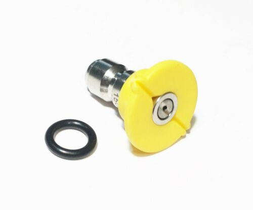Pressure Washer Quick Connect Tip Nozzle Size 5 GPM Yellow 15 Degree Spray Angle