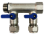 "3//4/"" 2-Loops Ball Valve Brass Pex Manifold for 1//2/"" Pex blue handle"
