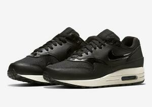 Details about WMNS NIKE AIR MAX 1 319986 039 BLACKSUMMIT WHITE LEATHERMESH