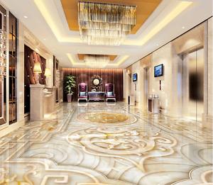 3D golden totem 2535 Floor WallPaper Murals Wall Print Decal 5D AJ WALLPAPER