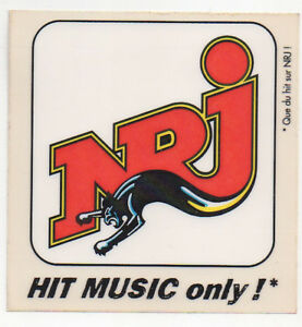 sticker-autocollant-French-RADIO-NRJ-hit-music-only-10-cm-ideal-collection
