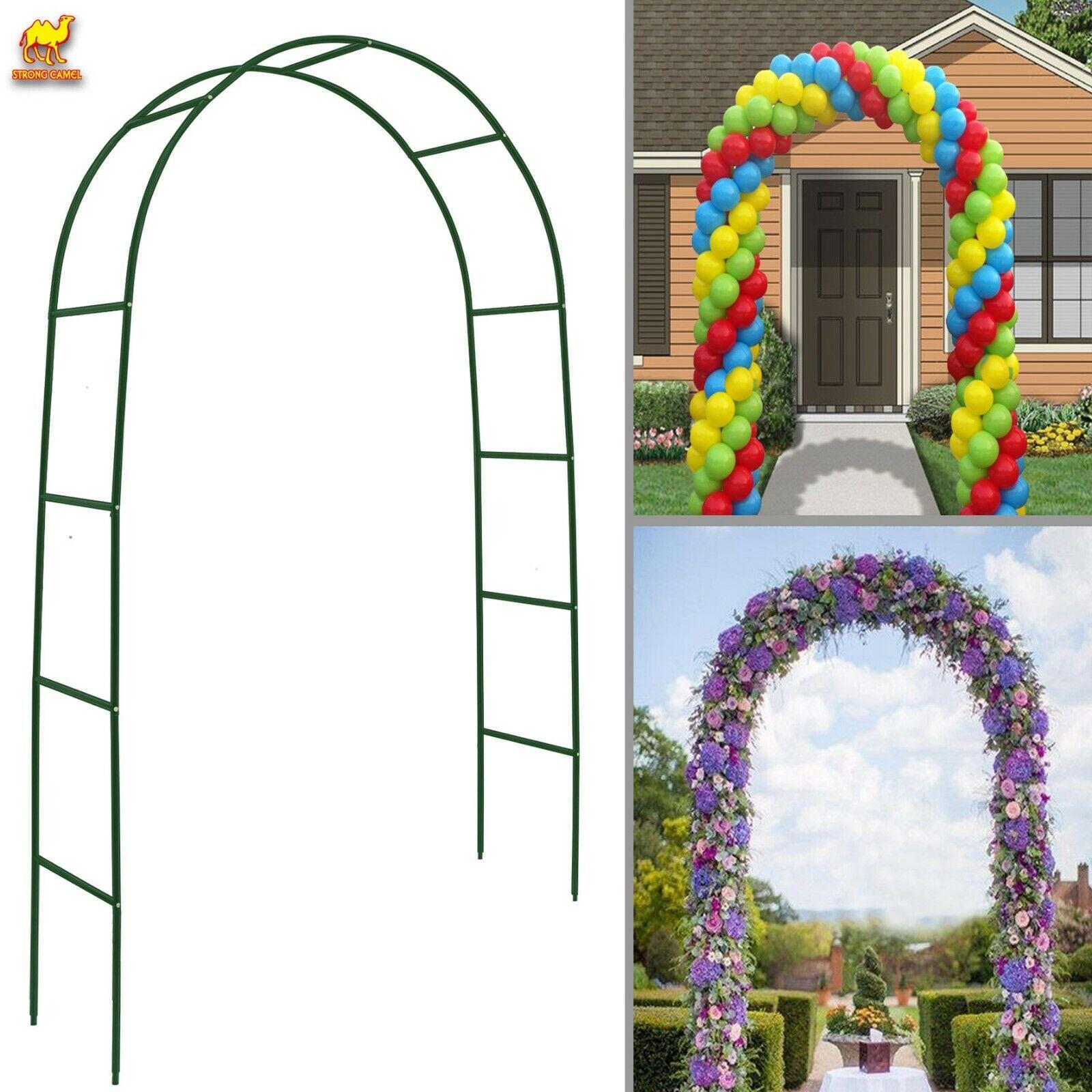 Bridal Parties Tall Grape Trellis Garden Arches and Arbors for Patio Garden Weddings Wrought Iron Garden Arbor Homelity Black Metal Garden Arch