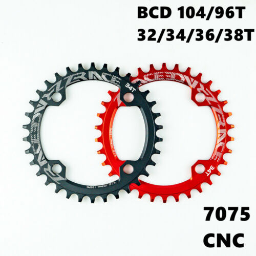ZRACE Bike Narrow Wide Round Chainring Chain Ring BCD 104 BCD96 32T 34T 36T 38T
